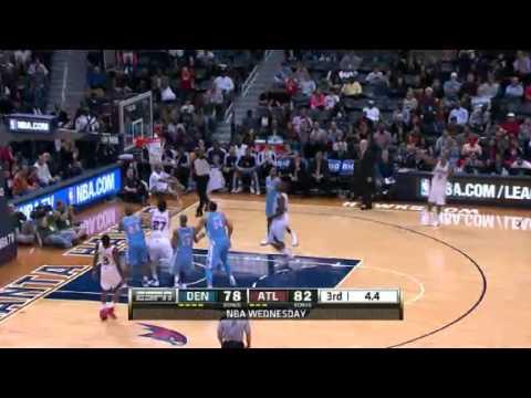 Denver Nuggets vs Atlanta Hawks 12/5/12