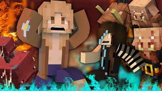 MINECRAFT but my mom visits the Nether
