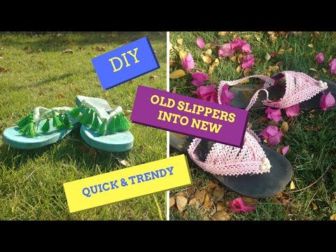 Create your own easy & trends flip flops at home // ABHINAYA DHINAKARAN