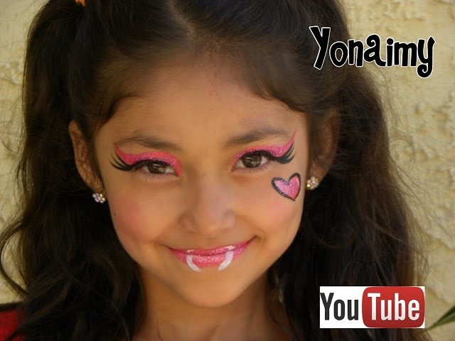 MONSTER HIGH DRACULAURA (PINTACARITAS).- FACE PAINTING . Videos De Viajes