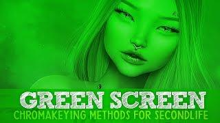 SL Photography Quick Tips // Green Screen, Chromakey Methods