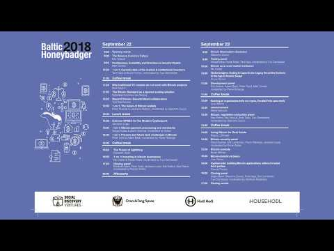 Baltic Honeybadger 2018 Bitcoin conference, Riga, day 1