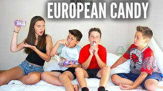 TRYING EUROPEAN CANDY