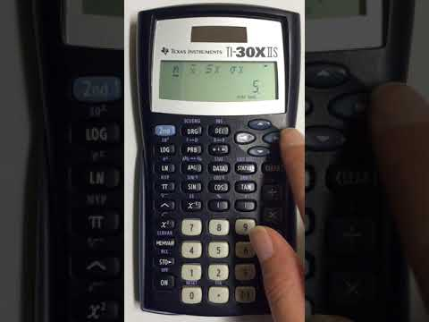 Finding Standard Deviation And Variance For TI 30xIIS Scientific Calculator