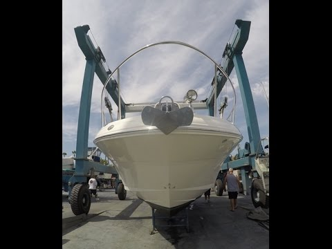 Sea Ray 340 Sundancer Bottom Inspection by South Mountain Yachts