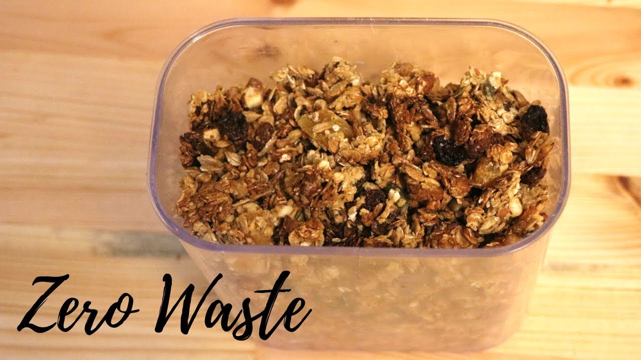 How to make easy vegan zero waste cereal granola youtube how to make easy vegan zero waste cereal granola ccuart Image collections