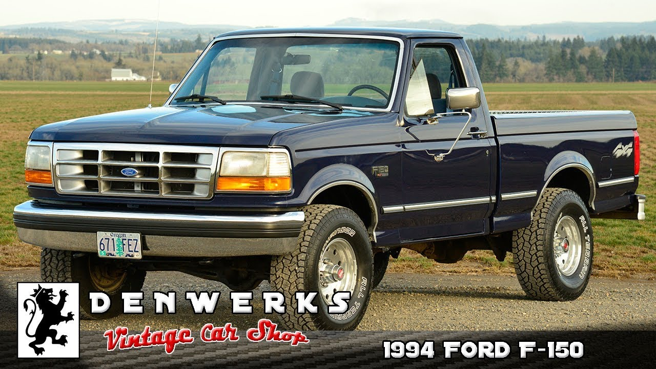 1994 Ford F150 4x4 Short Bed Youtube
