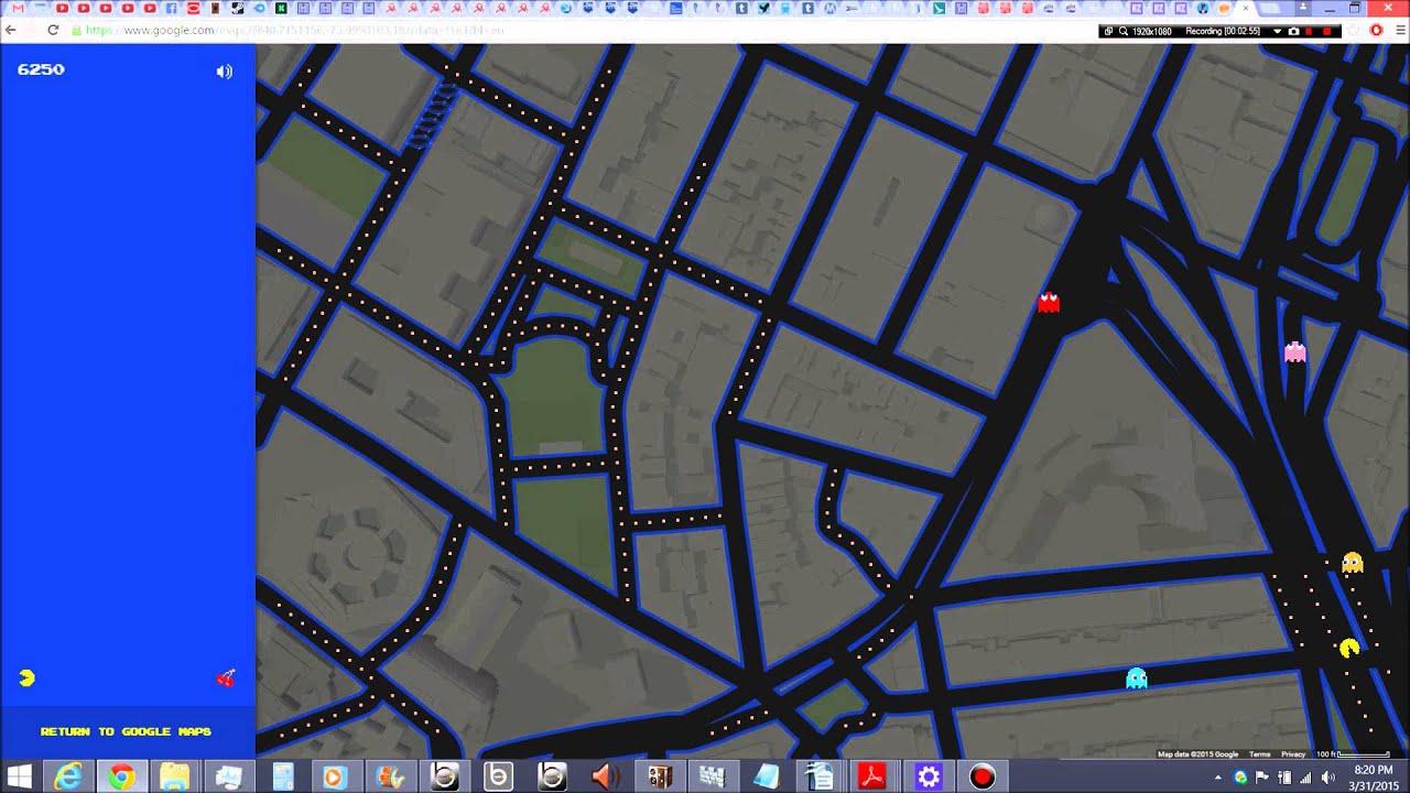 Playing Pac-Man in Chinatown Manhattan New York City On Google Maps ...