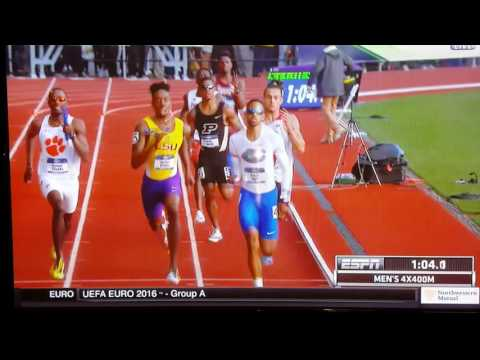 NCAA 2016 Men's 4x400 Nebraska Cornhuskers