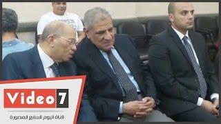 محلب ولبيب والفقى والسادات ومحمود سعد فى عزاء والد مصطفى حجازى