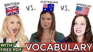 ONE language, THREE accents - UK vs. USA vs. AUS English!