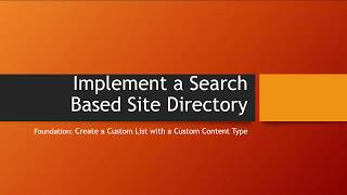 Search Based Site Directory: Part 2