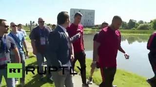 France: No comment! Ronaldo throws reporter's microphone into lake