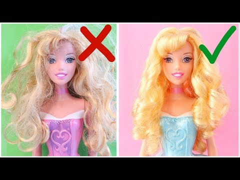 Never Too Old For Dolls! Doll DIYs For Disney Princess Aurora Sleeping Beauty Hairstyles And Clothes