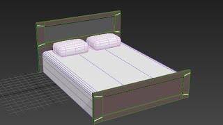 Моделирование кровати в 3DS Max 2016. Спальня (Урок №3)