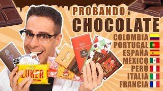 Probando CHOCOLATE DE MÉXICO, ESPAÑA, COLOMBIA, PERÚ, PORTUGAL, ITALIA y FRANCIA