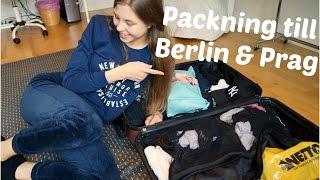 Min packning till Berlin & Prag