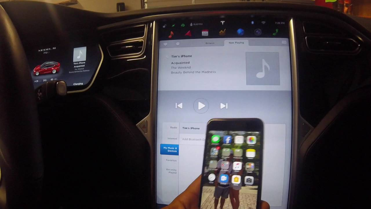 Tesla Model S Radio Bluetooth Internet Streaming