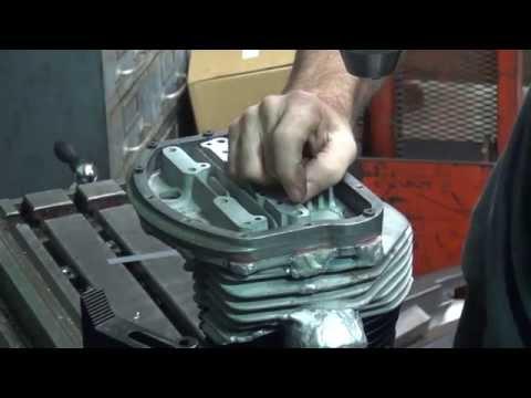 #134 1958 & 1960 harley panhead complete head restoration repair welding & machining, tatro machine