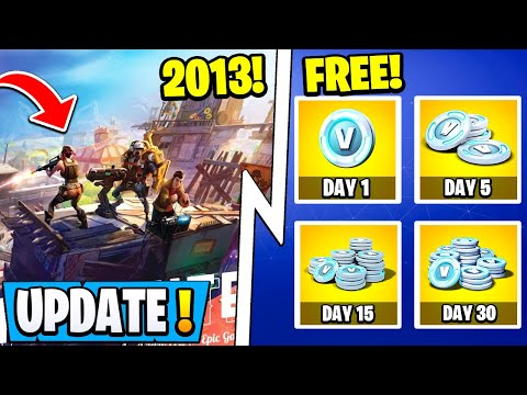 *NEW* Fortnite Update! | Daily Free Vbucks, 11.40 Changes, 2013 Gameplay!