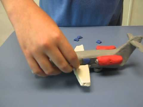 How to Make an Airplane with Modeling Clay