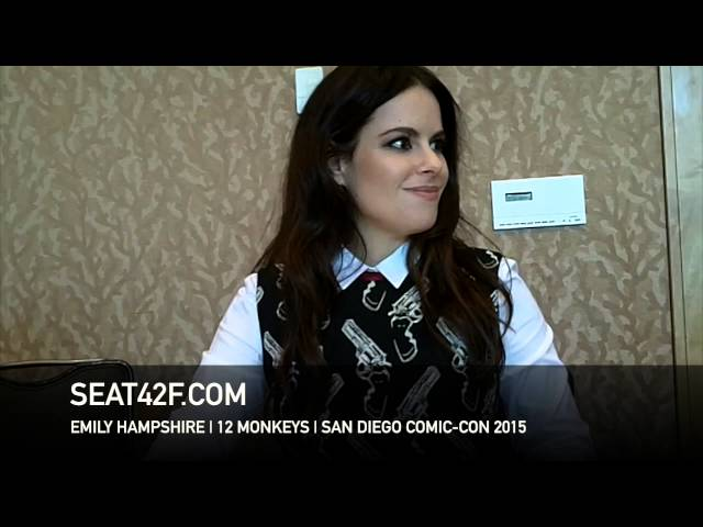 Emily Hampshire 12 MONKEYS Comic Con 2015 Interview
