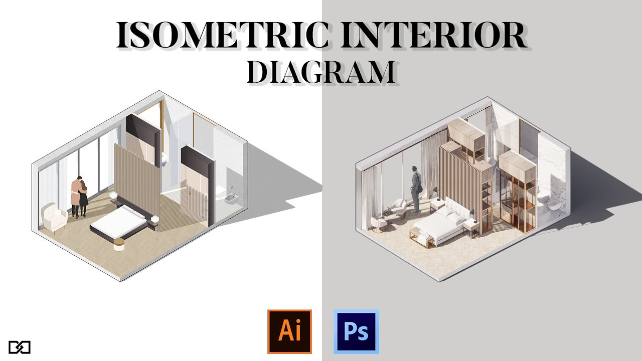 1 Project and 2 Different Visualization in Architecture [Isometric Diagrams]