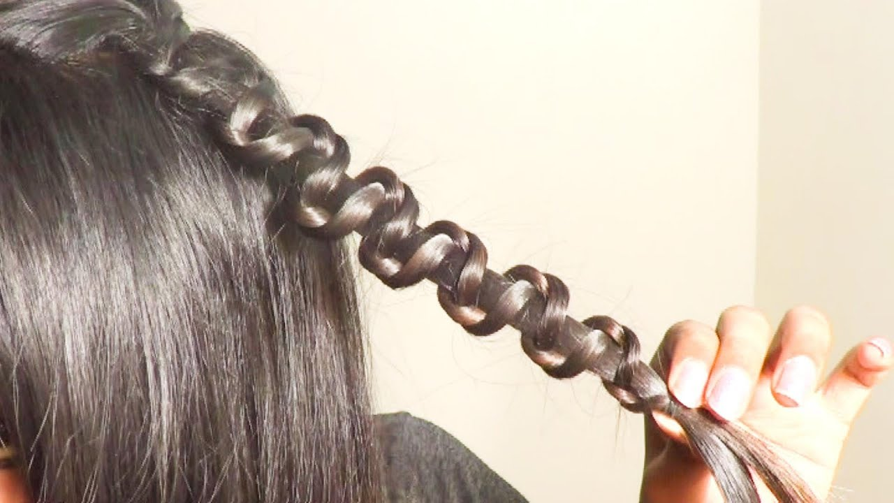 Everyday Side Ponytail with a Snake Braid Hair Tutorial - YouTube