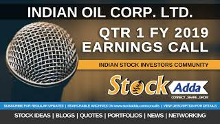Indian Oil Corporation Ltd Investors Conference Call Qtr1 FY19