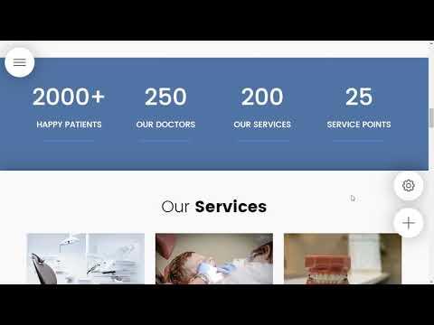 8b AMP Website Builder | Medical Website Template!
