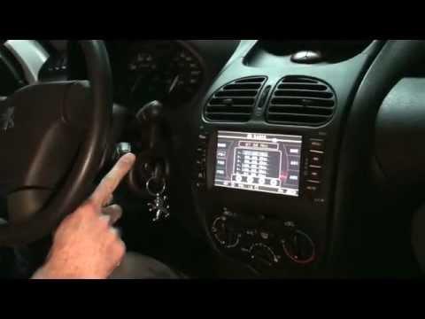 Autoradio OEM 2 Din Peugeot 206 GPS/NAVI/USB/Bluettooth ...