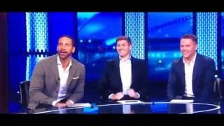 Steven gerrard & rio ferdinand epic reaction to barca's win ~ barcelona 6-1 psg (2017)