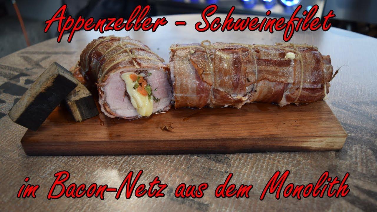 Outdoorküche Gas Xiaomi : 📷 appenzeller schweinefilet im bacon netz aus dem monolith youtube