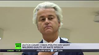 Far right Wilders convicted in hate speech case, says 'half of Netherlands' convicted with him