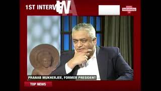 Pranab Mukherjee's First Interview After Presidency