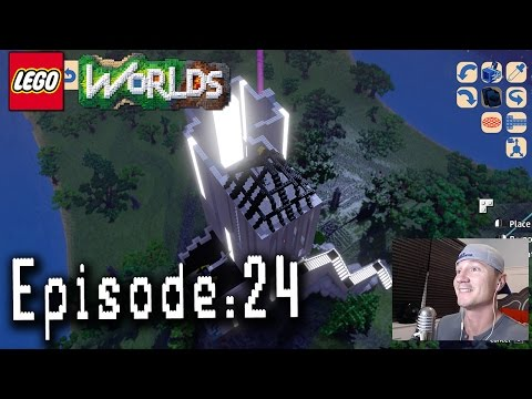 Let's Play Lego Worlds: Episode 24: Building a Conservatory at the Ivory Tower!