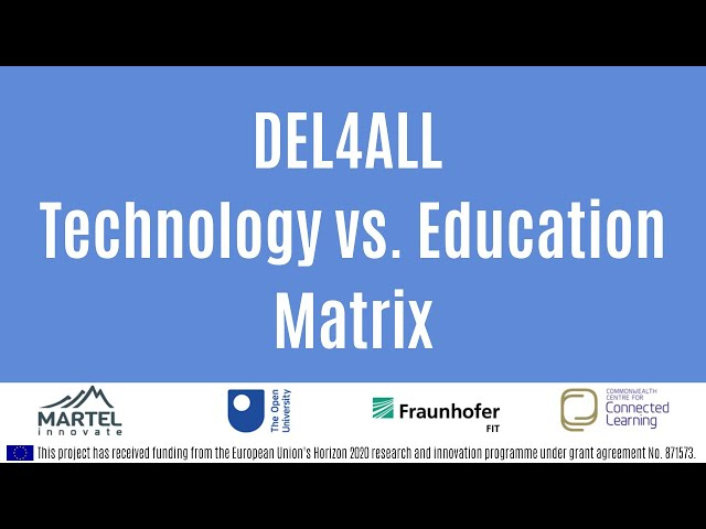 DEL4ALL Technology vs. Education Matrix explained by Dr. Allan Third