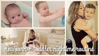 newborn baby + toddler night time routine | brianna k