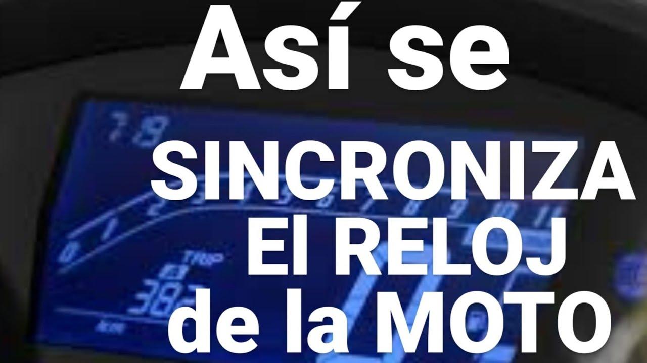 ASI SE SINCRONIZA EL RELOJ DE LA MOTO...
