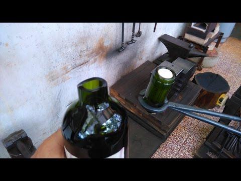 Blacksmithing - wine tonging - alternative way to open wine bottles - surprising results - port tong