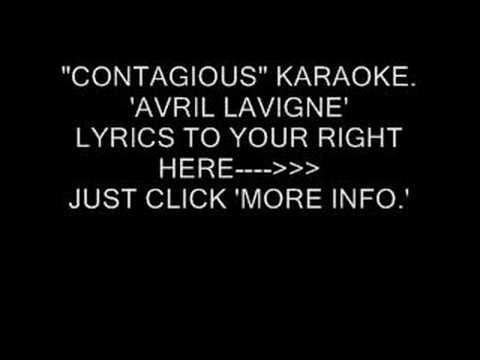 """CONTAGIOUS"" KARAOKE. AVRIL LAVIGNE"