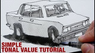 Tonal Value with Watersoluble Graphite (tutorial)