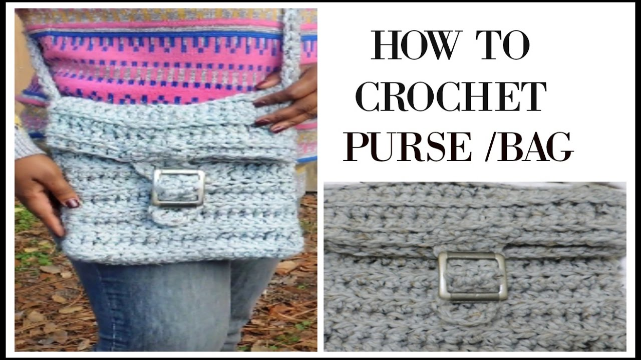How To Crochet A Easy Purse Bag Step By Step Tutorial