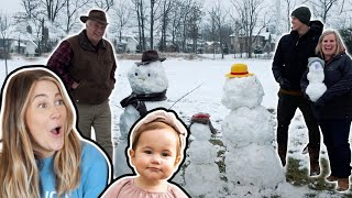 telling my husbands parents we are pregnant AGAIN *snowman* | the east fam