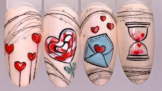 Лайфхак для мастеров маникюра Дизайн ногтей к 14 февраля Мощная бюджетная led лампа 72w