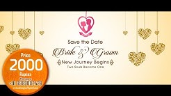 Best Musical Wedding Invitation Video - save the date video  : Project 2