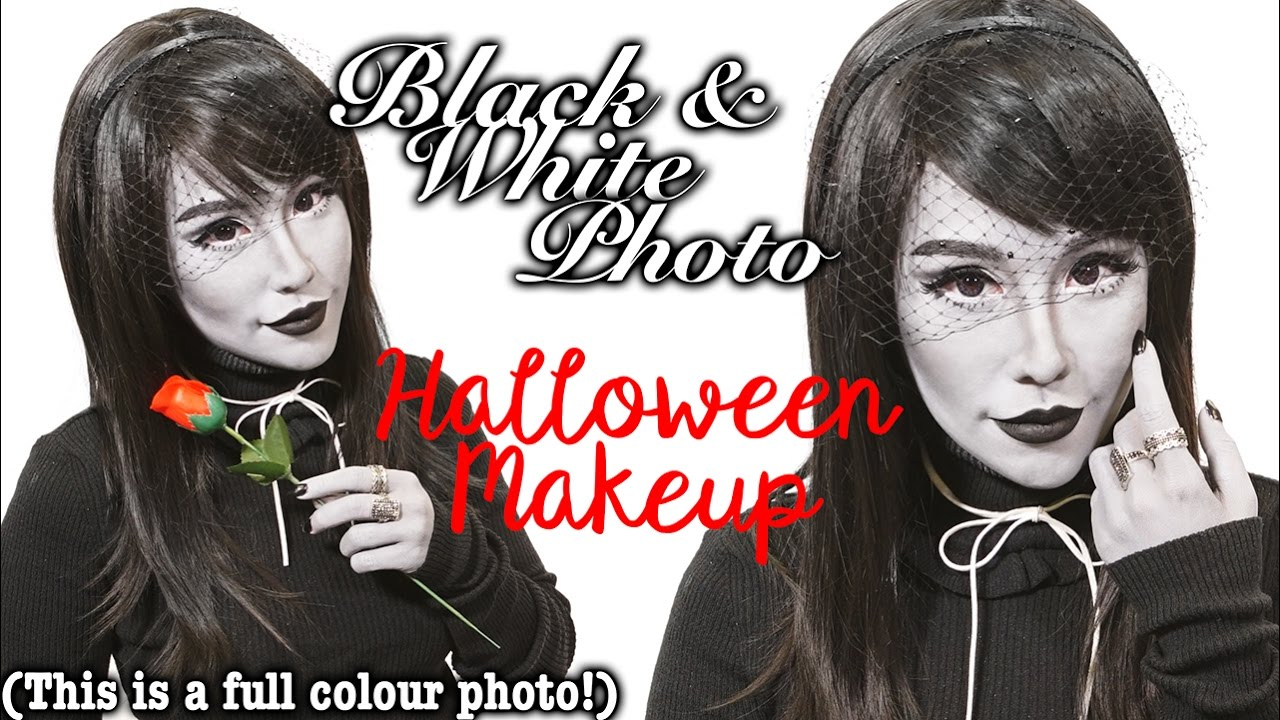 Black white photo halloween makeup tutorial youtube black white photo halloween makeup tutorial baditri Images