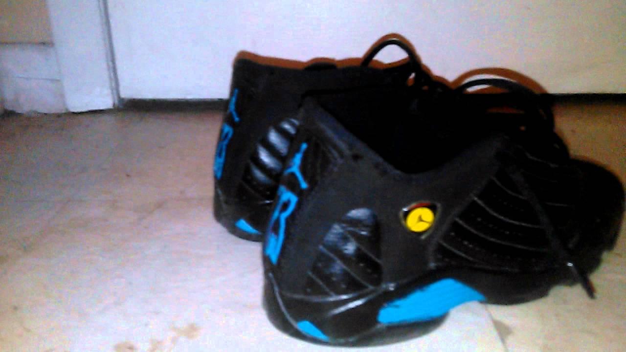 f2e96a31097cba Jordan 14 turquoise custom - YouTube