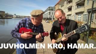 """Eldar og Raymon med """"Summer Holiday"""" ved kanalen i Fredrikstad"""