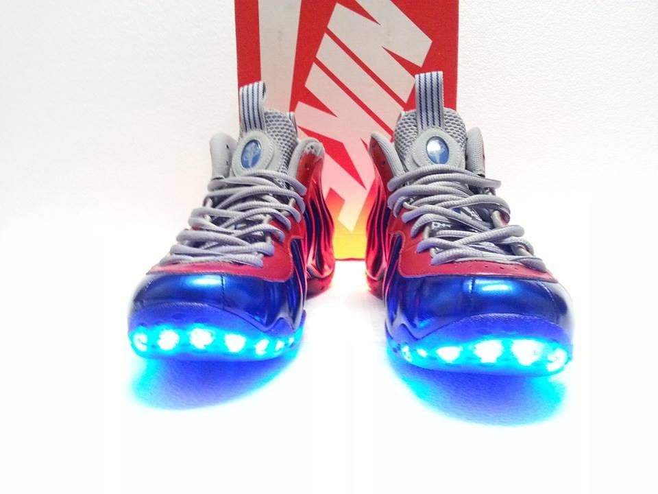 13e8b1d97ec1b Man of Steel LED Foamposite One - YouTube